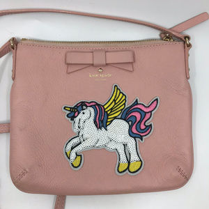 Kate Spade Pink Leather Customized Crossbody Bag